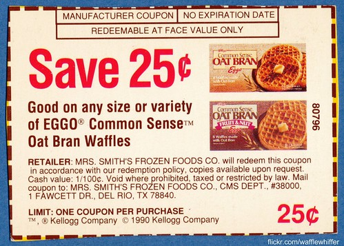 Eggo Common Sense Waffles - 1990