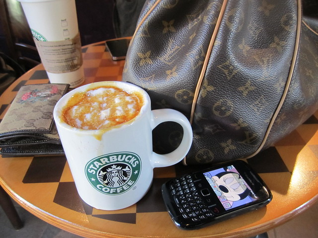 my coffee, my bag, my phone