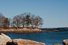 Winslow Park, Freeport (Vicki Lund Photography) Tags: ocean travel blue trees vacation sky usa tourism nature water colors vintag