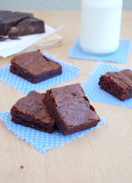 Classic unsweetened chocolate brownies / Brownies clássicos da Alice Medrich