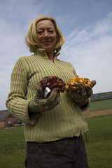 Woman with onions to plant (!.Keesssss.!) Tags: portrait sky people cloud netherlands smiling vertical standing outdoors photography sweater holding day adult content happiness onion agriculture domesticlife adultsonly planting oneperson gettyimages potting confidence gelderland blondhair colorimage onewomanonly lookingatcamera rightsmanaged waistup matureadult lowangleview gardeningglove frontorbackyard onlywomen onematurewomanonly 5054years theflickrcollection keessmans 158ksgetty