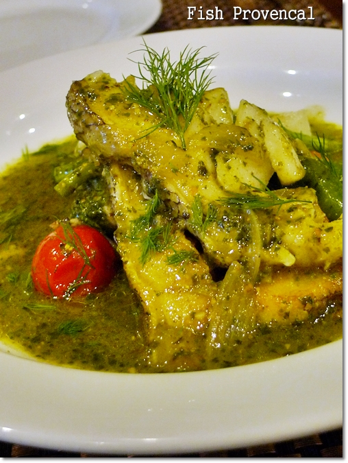 Fish Provencal (RM26/USD8.70) – Freshly grilled fish in a pesto-base ...