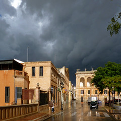 Heavy hail hits the charming medieval streets of Ciutadella (Bn) Tags: city pink espaa water rain architecture port geotagged lights islands harbor spain alley topf50 downtown mediterranean day market taxi centre gothic churches tapas civil obelisk attractive raindrops townhall restoration charming baroque heavy raining raincoat picturesque oldtown streaming menorca darkclouds alleys ciutadella minorca neoclassic rainydays balearic oldquarter gutters rainyweather townwalls ciutadellademenorca islasbaleares whitewashedwalls 50faves narrowlanes sunafterrain formercapital theoldandthebeautiful aftertherainthesun theheartoftown geomenorca picturesquenaturalport esbornsquare theformercapital vellaibella aftertherainthesunshinesthenabright plaaborn contorresaura geo:lon=3836268 geo:lat=40001388
