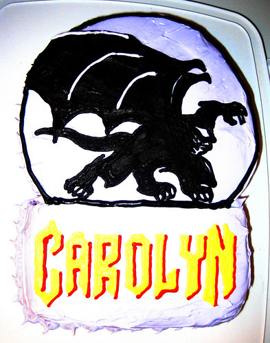 20110305 2208 - Carolyn's 35th birthday party - Gargoyles cake! - IMG_2895