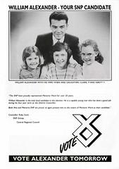 SNP Local Council Election Leaflet, c.1992 (Scottish Political Archive) Tags: party scotland scottish national alexander publicity campaign snp