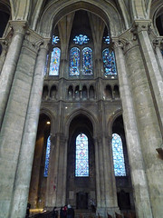Chartres North Elevation Framed by South Aisle Piers and Arch