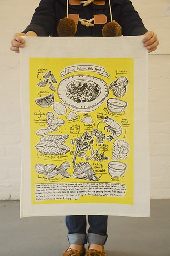 Fish Stew Tea Towel