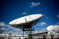 (e_walk) Tags: travel blue sky white tourism clouds radio dish pentax space satellite johnson houston center nasa government 1855mm microwave k200d justpentax pentaxart