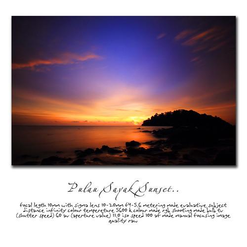 Pulau Sayak Sunset by em kays