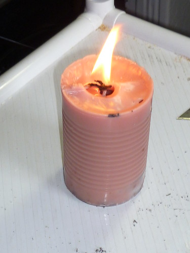 Making a Candle from Scrap Wax