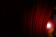 Curtain (Laura Panno) Tags: light red photoshop teatro theatre curtain hide unreal rosso scena luce tenda palco nascosto sipario riflettore