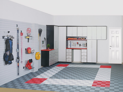 Chrome3� Garage System with Ribtile� Flooring