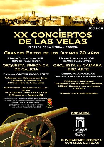 Avance portada XX Conciertos de las velas 2011