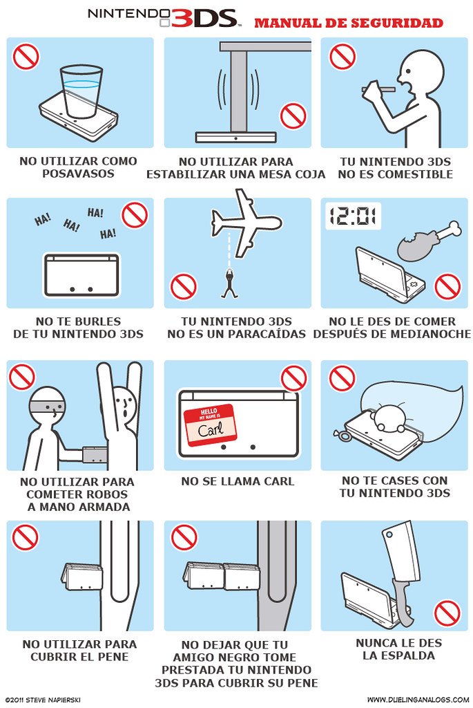 MANUAL DE SEGURIDAD DE LA NINTENDO 3DS