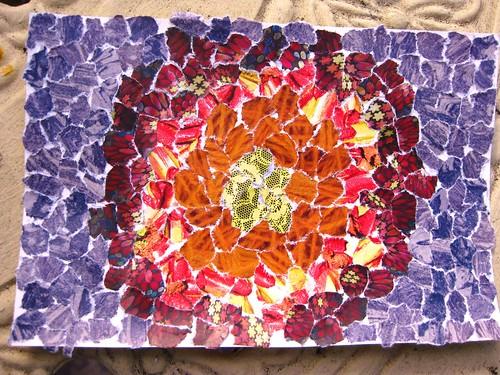 handmade postcard - lavaburst
