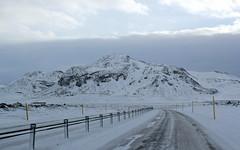 On route 1 to Hverageri, Iceland. (elsa11) Tags: winter snow mountains iceland sneeuw reykjavik sland hverageri hveragerdi