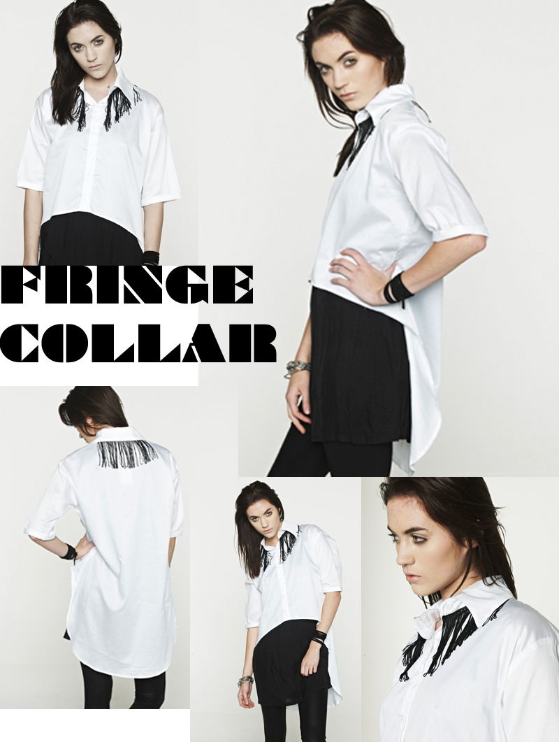 MR. MADAME FRINGE COLLAR SHIRT