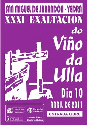 Vedra 2011 - Exaltación do Viño en San Miguel de Sarandón - cartel