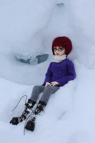purple sweater ice cave