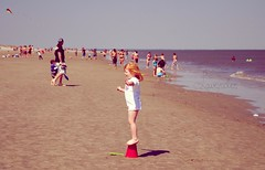 (Lavender Photos) Tags: ocean people beach water girl georgia island bucket sand nikon child lavender tybee tones d3000