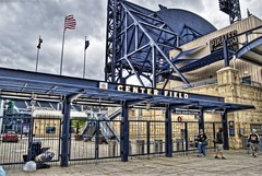 Center Field Gate at PNC Park (Dave DiCello) Tags: ohio clouds photoshop point nikon pittsburgh cityscape tripod wideangle northshore rivers nikkor hdr highdynamicrange allegheny pncpark confluence heinzfield monongahela alcoa thepoint pittsburghpirates cs4 pittsburghskyline mellonarena civicarena pittsburghsteelers pittsburghatnight sidneycrosby selectivecoloring photomatix davidllawrenceconventioncenter pittsburghpenguins d40 benroethlisberger tonemapped colorefex rachelcarsonbridge theigloo d40x pittsburghinhdr mellonarenapittsburgh davedicello thepointinpittsburgh hdrexposed
