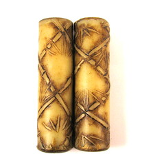 Bamboo Textured Cylinder Focal Beads