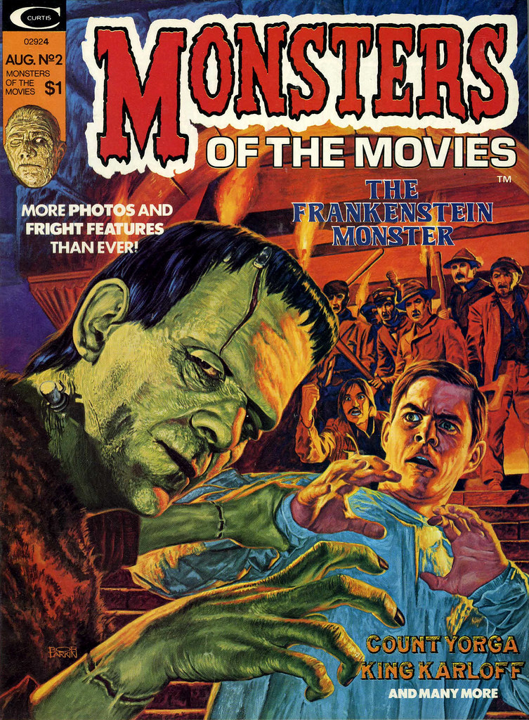 Monsters Of The Movies, Issue 2 (1974) Cover Art by Bob Larkin