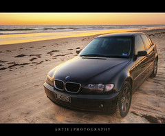BEYOND Beemer :: HDR (:: Artie | Photography ::) Tags: sunset beach water photoshop canon landscapes sand tripod wave australia wideangle bmw adelaide 1020mm southaustralia hdr moana artie cs3 318i fleurieupeninsula 3xp sigmalens photomatix tonemapping tonemap 400d rebelxti moanabeach