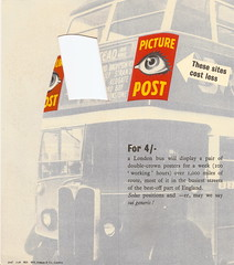 """""""Keep your name in front"""" - London Transport advertising services folder - interior - designed by Zero [Hans Schelger] - 1938 (mikeyashworth) Tags: advertising graphicdesign 1938 leaflet zero londontransport commercialart hansschleger mikeashworthcollection"""