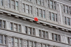 The little red balloon (The Bacher Family) Tags: red architecture portland lost freedom balloon free odt ourdailytopic thelightisall