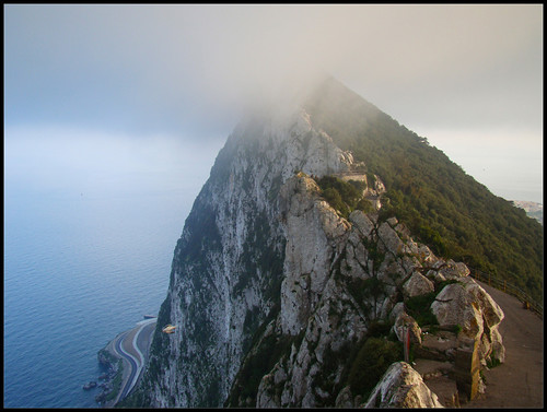 Peñón Gibraltar Nublado