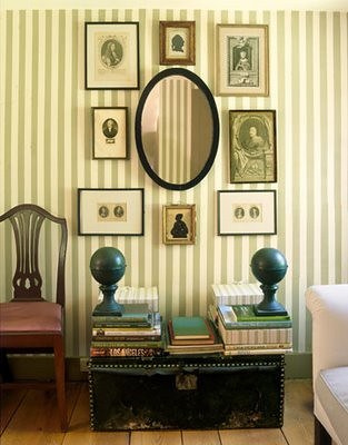 country living striped wall
