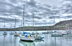 New Quay (Olly Plumstead) Tags: new blur water wales canon boats newquay quay welsh yachts olly hdr edit plumstead photomatix tonemapped 450d mygearandme