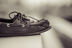 My Shoes (A.Arrington) Tags: blur classic apple canon boat shoes open im yeah you bokeh background wide 85mm rules pro 5d drool f18 cs4 legit sperry topsiders macbook bokehlicous