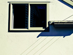 Lines (Tim Bow Photography) Tags: windows roof light shadow newzealand two black color colour reflection window lines metal stone canon dark square lens photography flickr sill shapes nelson nz string symmetrical british welsh clothesline lightroom svenska 550d psdtuts timboss81 timbow timbowphotography