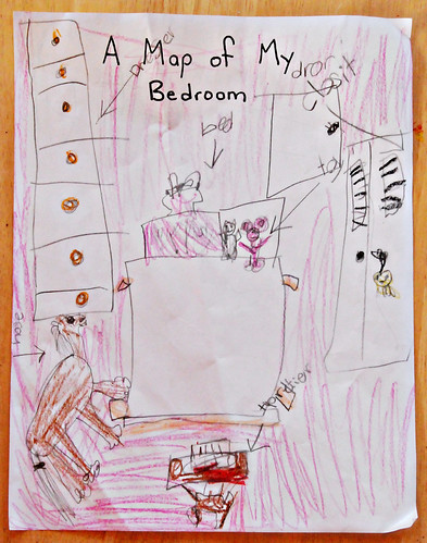 map of her room ...