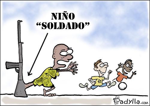 """Viñeta Niño """"soldado"""""""