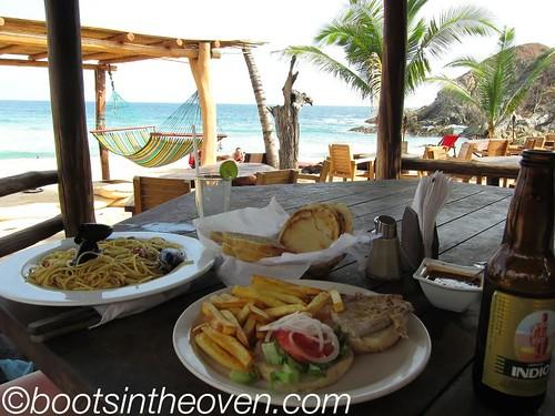 Beach Eating