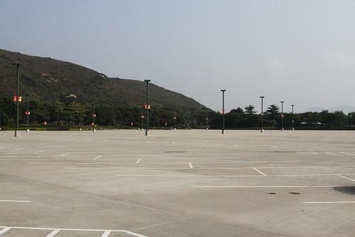 Massive carpark but it's empty: Hong Kong Disneyland
