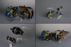 Hunting (Shamisenfred) Tags: lego alien frigate starship microspacetopia