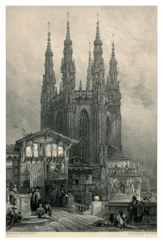 018- Torre de la sala capitural de la catedral de Burgos- The tourist in Spain (1837)-Roberts David