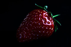 A dessert ? - Strawberry (Domdomfrommionnay) Tags: red macro fruit dessert rouge strawberry lowkey fraise macrophotography canonefs1785mmf456isusm kenkoextension canoneos50d flickraward