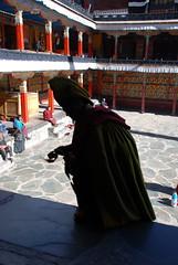 monk at Tashilhunpo Monastery, Tibet (Kathy Perry) Tags: china travel winter tibet monastery himalaya himalayas pilgrim roofoftheworld tashilhunpo