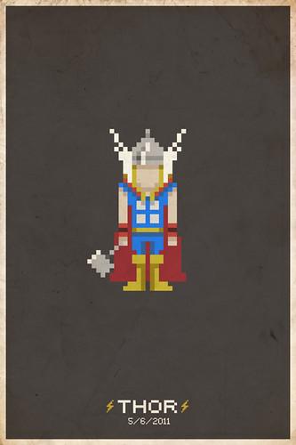 Thor Pixel Poster