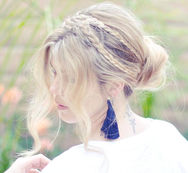 Messy Rope  Braids hair tutorial - side