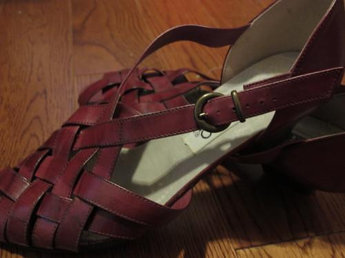 Vintage Aubergine Bandolino NOS Sandals