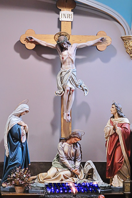 "Saint Alphonsus Ligouri (""Rock"") Roman Catholic Church, in Saint Louis, Missouri, USA - Crucifixion"
