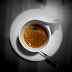 espresso (Lars Kehrel) Tags: life bw stilllife brown white black color macro coffee caf photo cafe still key foto bokeh 4 kaffee stilleben lars generator coloring sw espresso braun product makro weiss colorsplash schwarz colouring selective iphone tiltshift weis produkt kehrel photogene