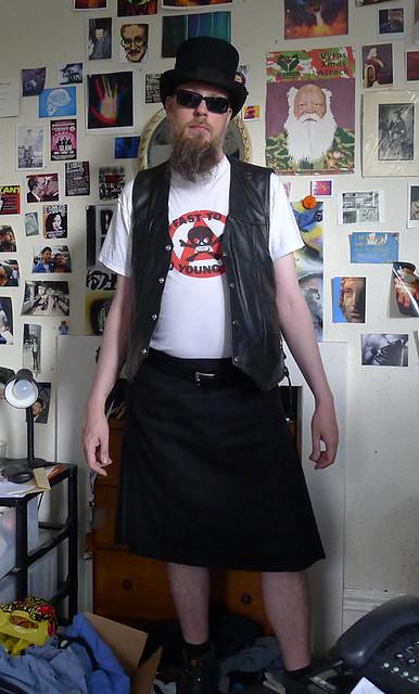 Kilt and Leather and shades: DjNoNo Ulysses anyone?