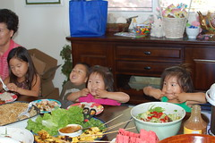 Funny faces at Easter lunch